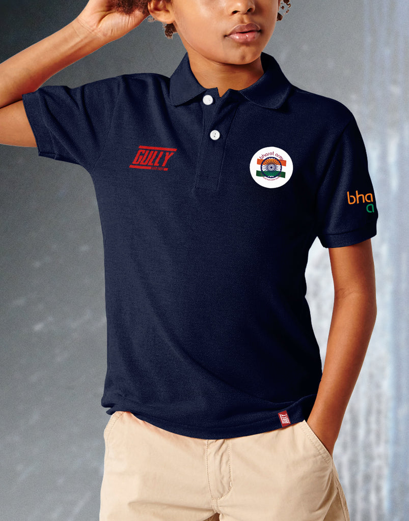 KIDS Bharat Army Casual Polo T-Shirt