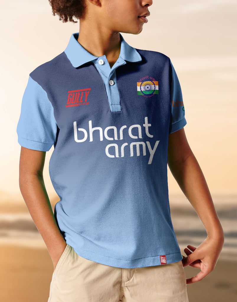 Kid's Bharat Army Jersey Blue WITH CUSTOMISE OPTION