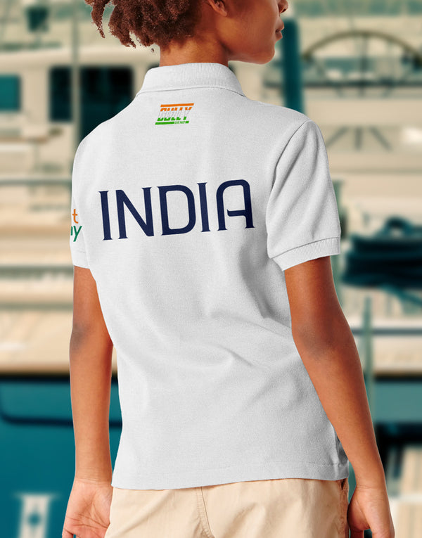 Kids Bharat Army Jersey White