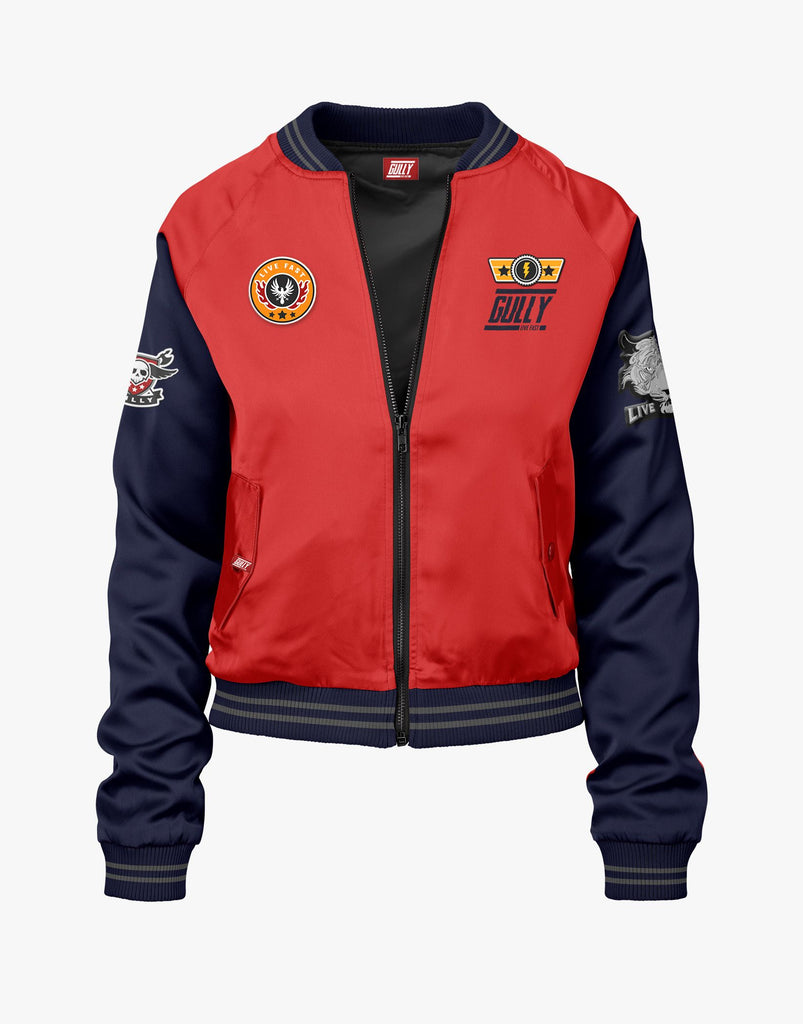 Gully Red and Navy Limited Edition Bomber