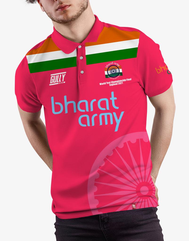 Bharat army World test championship Final England 2021 jersey (Pink)