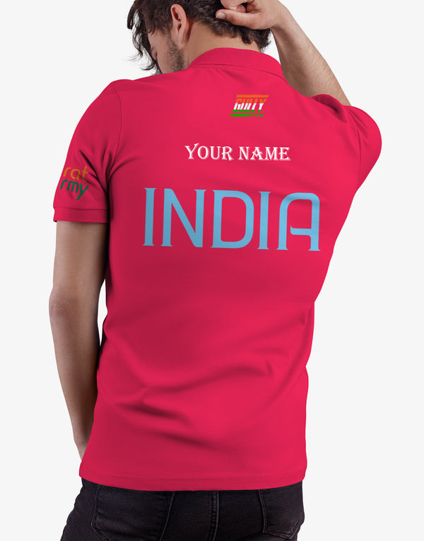 Bharat army World test championship Final England 2021 jersey WITH CUSTOMISE OPTION PINK