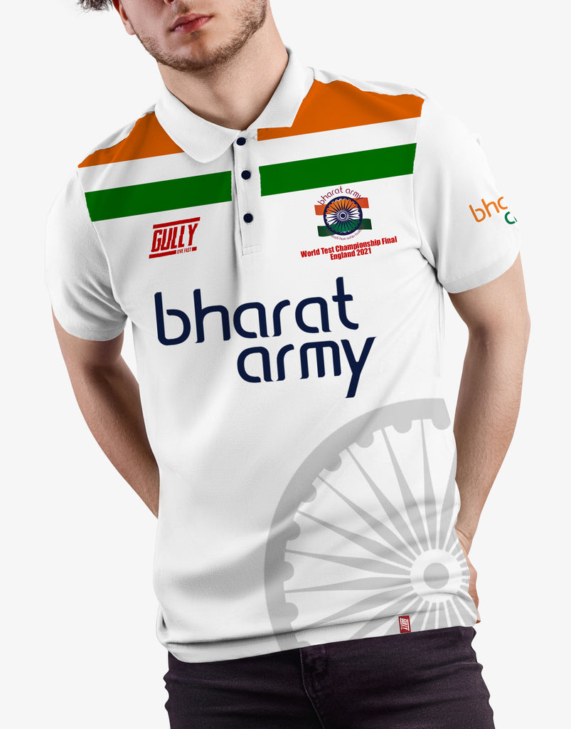 Bharat army World test championship Final England 2021 jersey (White)