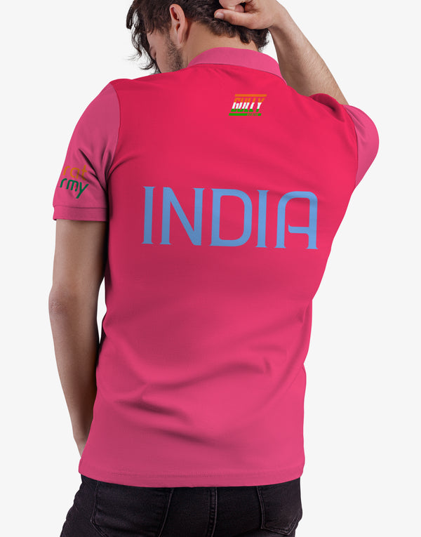 MEN'S BHARAT ARMY JERSEY PINK