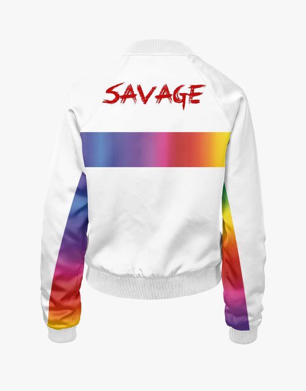 Womens SAVAGE CMYK 055 BOMBER White
