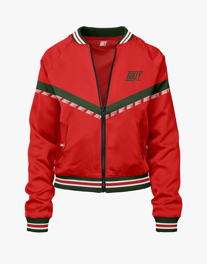 WOMEN'S WAVE 47C BOMBER JACKET RED