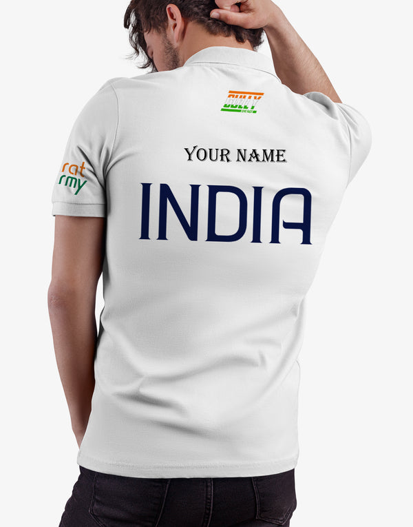 Bharat Army Jersey White WITH CUSTOMISE OPTION