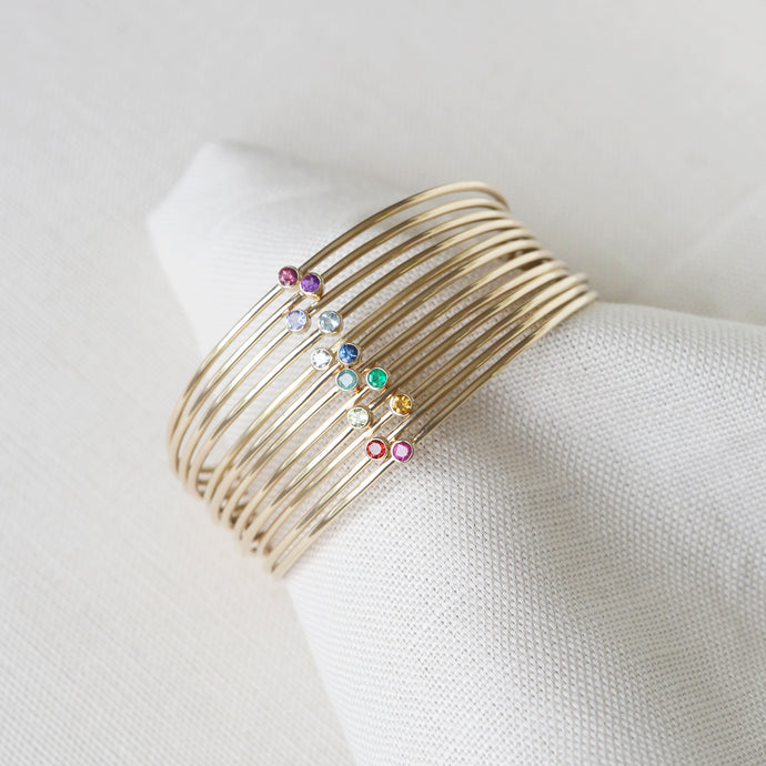 The Birthstone Bangle Collection