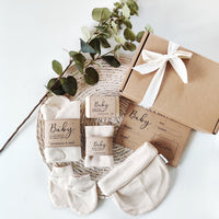 Personalised Newborn Eco Friendly Vegan Gift Set - Aphrodite and Ares ethical store
