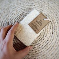 Exfoliating Loofah Sponge on the rope - Aphrodite and Ares ethical store
