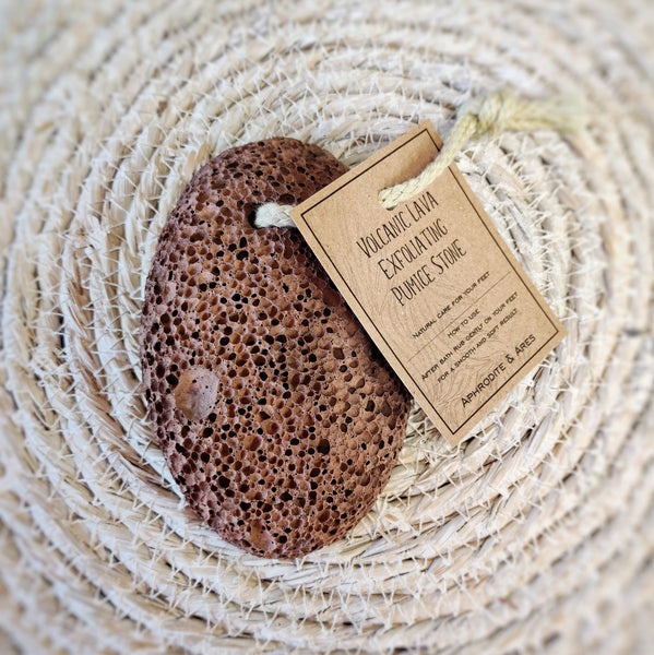 Lava stone exfoliating pumice stone - Aphrodite and Ares ethical store