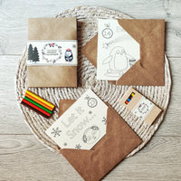 Personalised Christmas Colouring Advent Calendar ecofriendly - Aphrodite and Ares ethical store