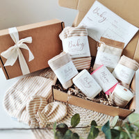 New Mum and Baby Sustainable Vegan Personalised Gift Set - Aphrodite and Ares ethical store