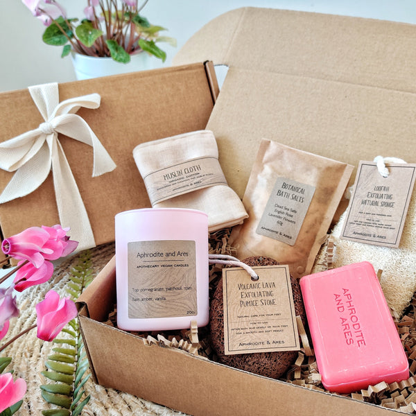 'Hemera' Eco-friendly Vegan Pampering Bath Gift Set for her - Aphrodite and Ares ethical store