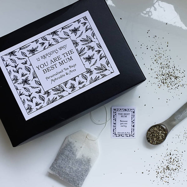 Mother's Day Personalised Tea Bags - Aphrodite and Ares ethical store