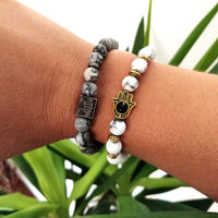 'Believe' Personalised Hamsa Hand Bracelet - Aphrodite and Ares ethical store