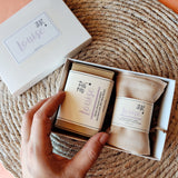'New Baby' personalised vegan and organic gift set - Aphrodite and Ares ethical store