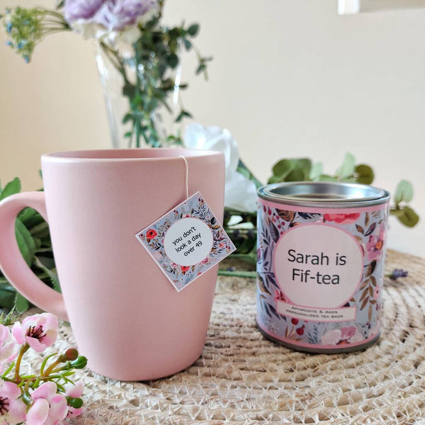 Fif-TEA Personalised 50th Milestone Tea Set - Aphrodite and Ares ethical store