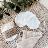 Eco-friendly reusable make-up pads in bamboo cotton