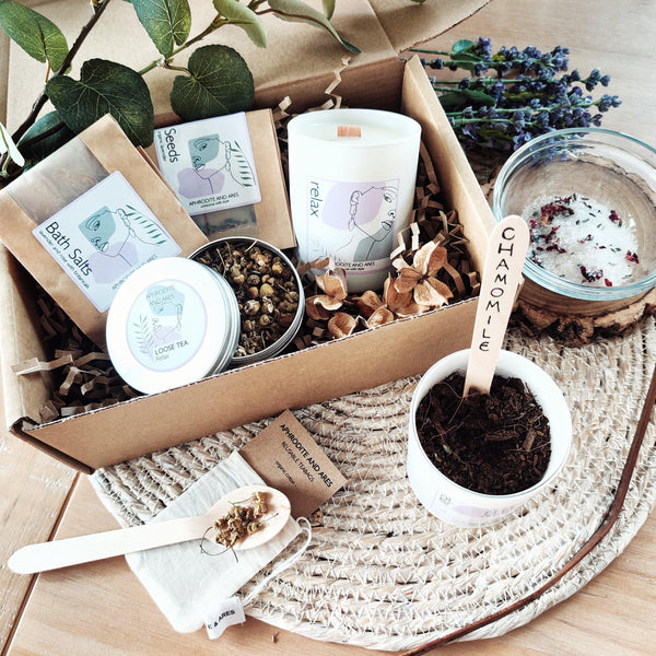 Grow And Make Your Own Organic 'Relaxing' Pamper Kit - Aphrodite and Ares ethical store