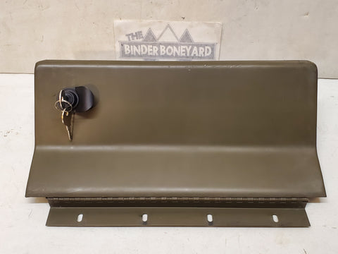 71-80 International Scout II Terra Traveler LOCKING Green Glove Box Door