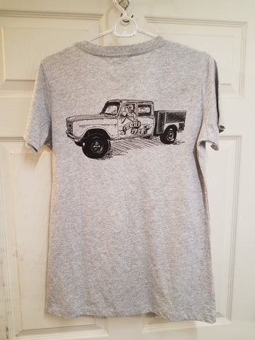 Binder Boneyard truck Womens V-neck tee