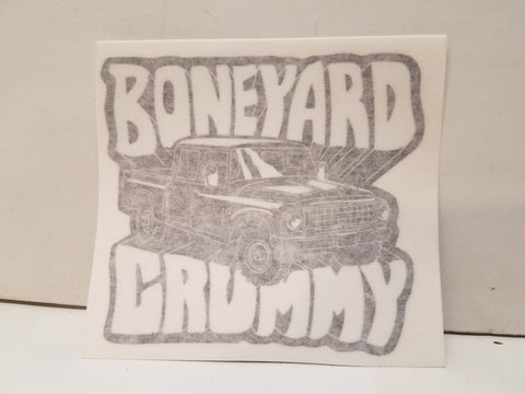 Boneyard Crummy Sticker