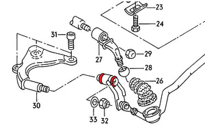 Bushings for 01E gear linkage for Audi S2 and RS2 with 6-speed