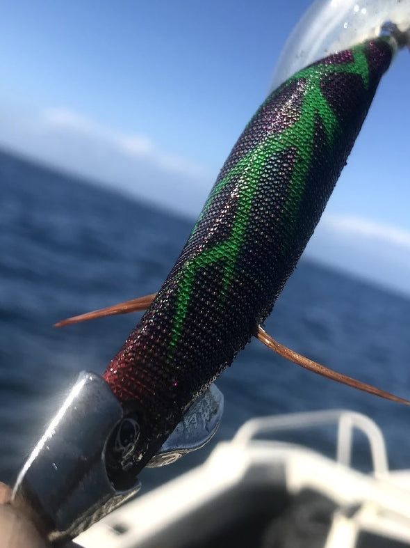 Details about  /RUI SQUID JIG King George Whiting SIZE 3.5 RED Belly EGI FISHING LURE