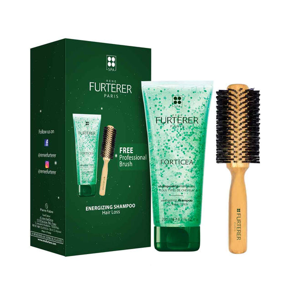 Forticea Gift Box: Energizing Shampoo 200ml + FREE Professional Brush