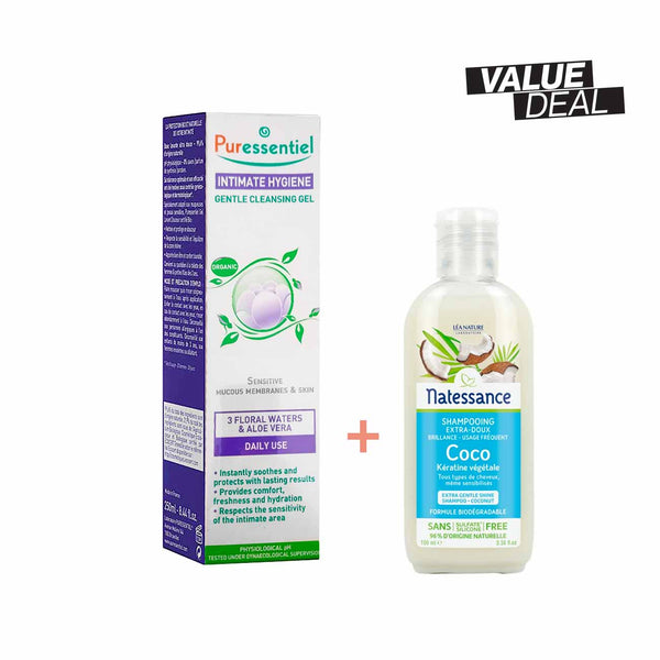 Organic Intimate Hygiene Gentle Cleansing Gel Set