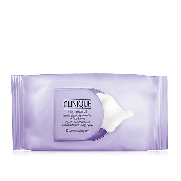 Take the Day Off Micellar Cleansing Towelettes for Face & Eyes - 50 Towelettes