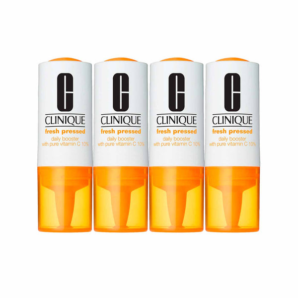 Fresh Pressed Daily Booster with Pure Vitamins C 10% for All Skin Types - Pack of 4 x 8.5ml