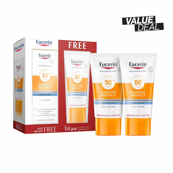 Sensitive Protect Sun Cream SPF50+ - Pack of 2
