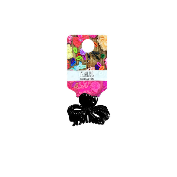 Bow Hair Clip Black - Medium