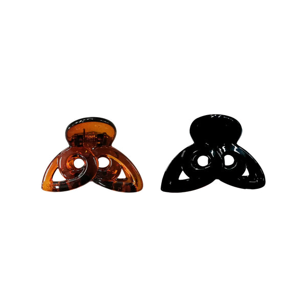 Medium Hair Clips Black/Brown - Pack of 2