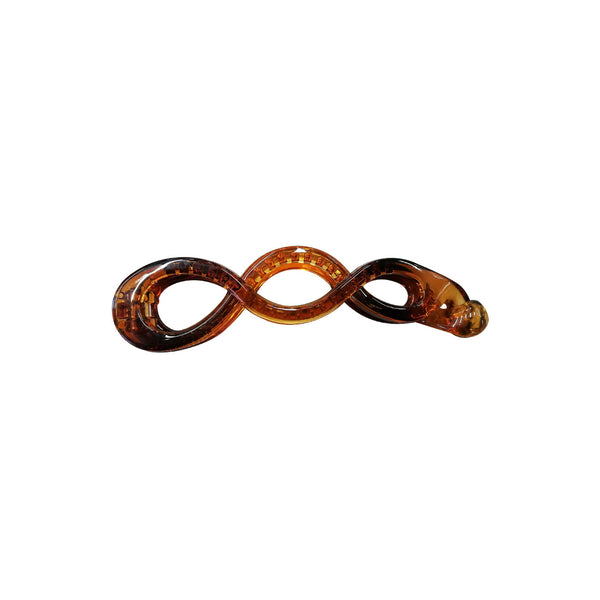 Large Hair Clip Brown - Round