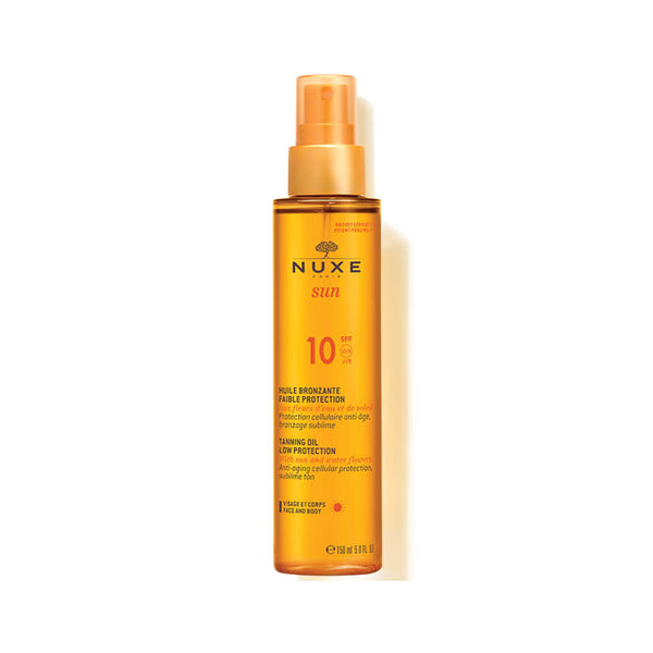 Sun Tanning Oil for Face and Body Low Protection SPF10