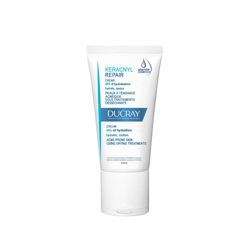 Keracnyl Repair Cream 48H of Hydration - Acne-Prone Skin Using Drying Treatments