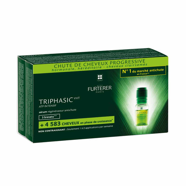 Triphasic ATP Intensif Anti-Hair Loss Ritual Regenerating Serum - Progressive Hair Loss - Pack of 8 x 5.5ml