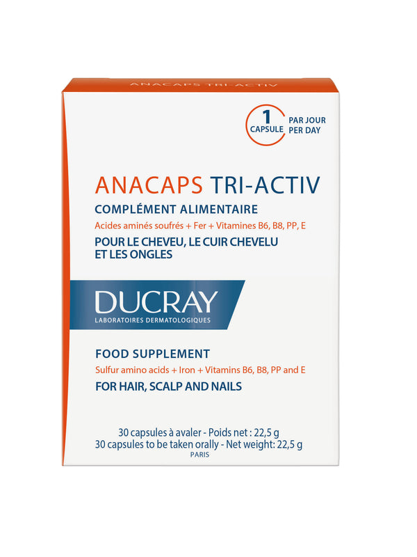 Anacaps Tri-Activ Food Supplement for Hair, Scalp and Nails