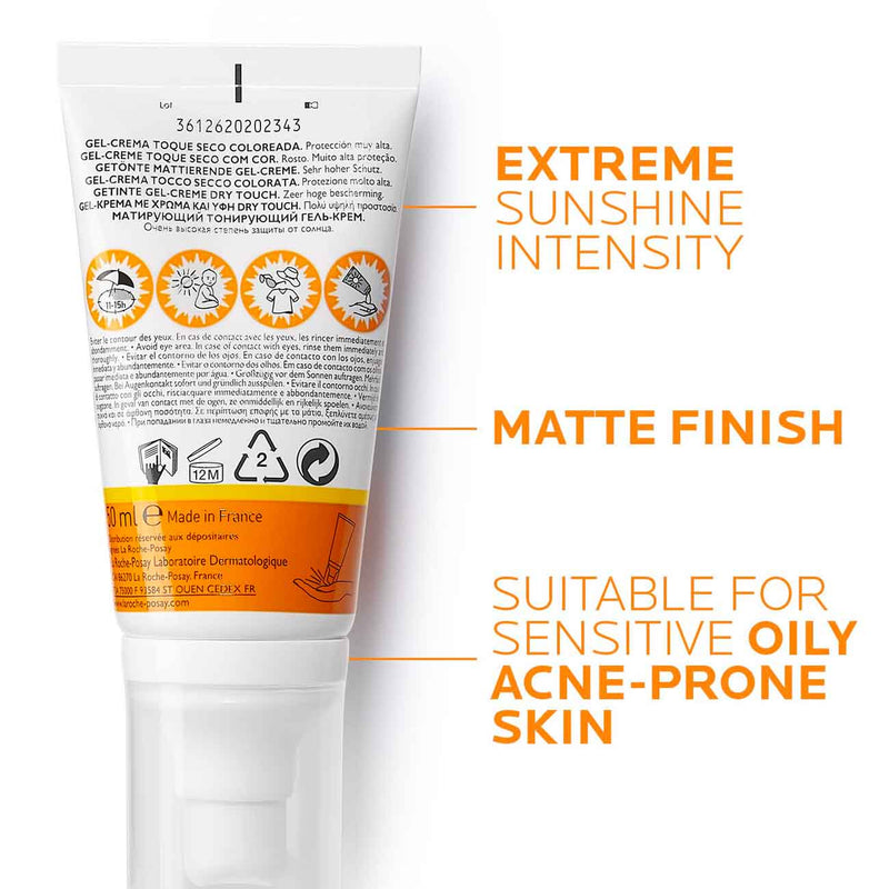 Anthelios Tinted Dry touch Gel-Cream SPF50+