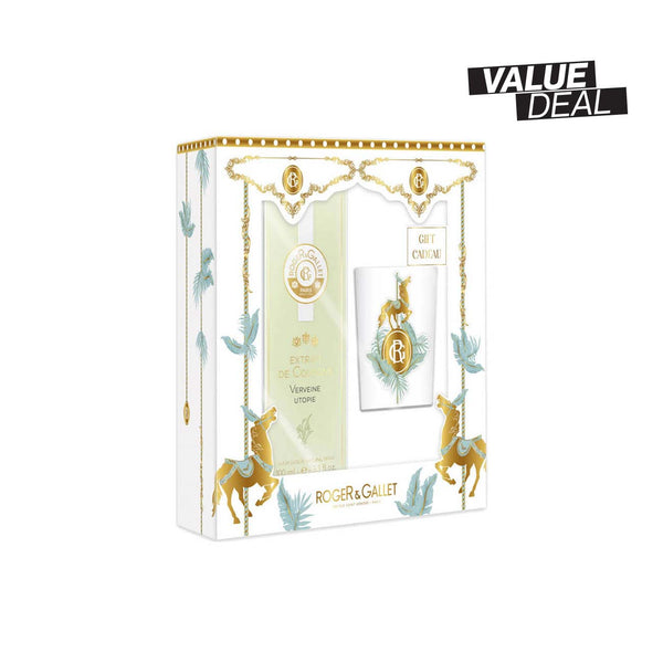 Verveine Utopie Set: Extrait de Cologne (100ml) + Scented Candle