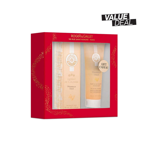 Magnolia Folie Gift Set: Extrait de Cologne 30ml + FREE Shower Gel 50ml