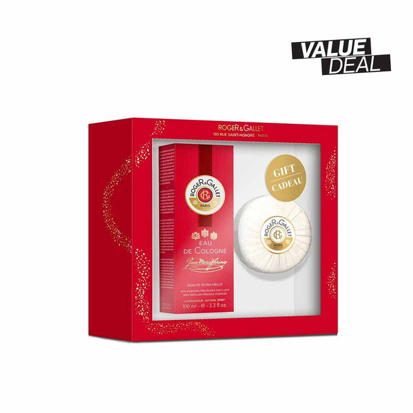 Jean-Marie Farina Gift Set: Eau de Cologne 100ml + FREE Perfumed Soap 100g