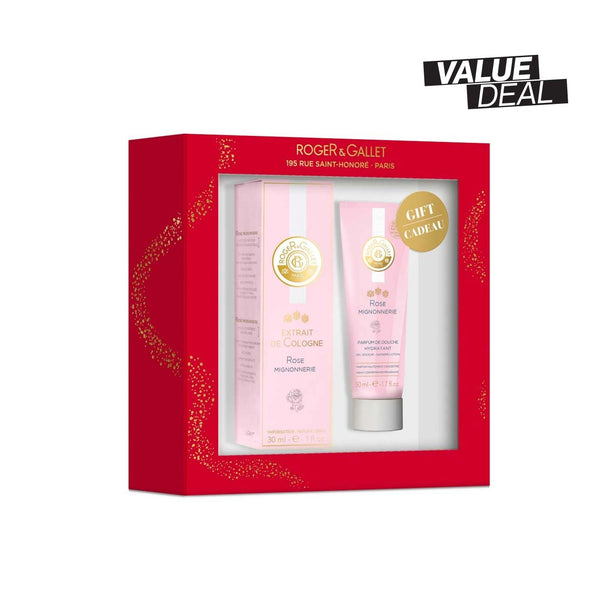 Rose Mignonnerie Gift Set: Extrait de Cologne 30ml + FREE Shower Gel 50ml