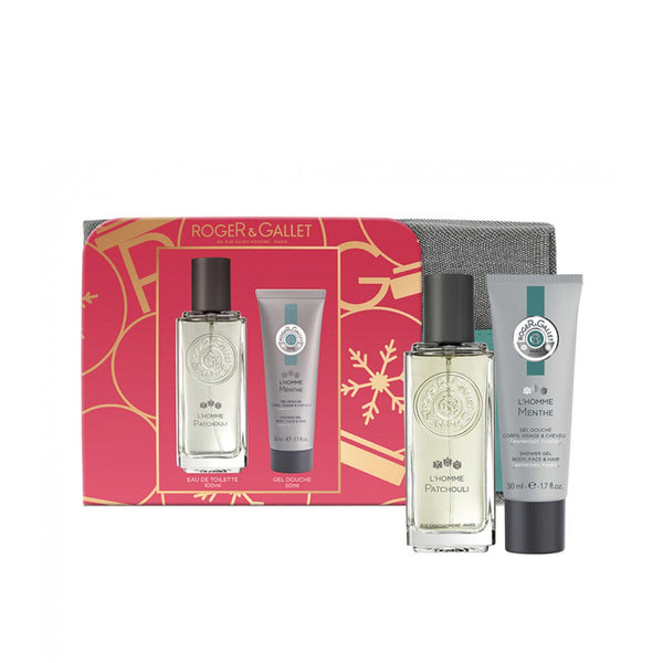 L'Homme Patchouli Gift Set: Eau de Toilette 100ml + FREE Shower Gel 50ml + Travel Bag