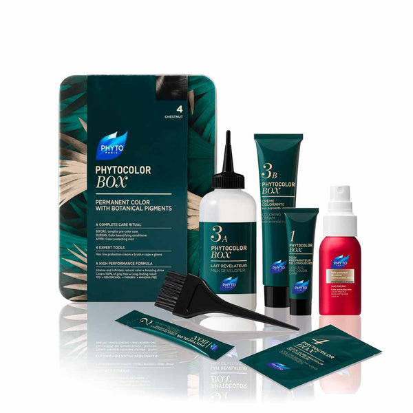 Phytocolor Box - Permanent Hair Color with Plant Pigments: Set of 9 Items