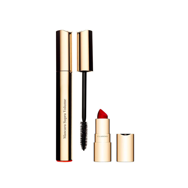 Mascara Supra Volume 01 Intense Black 8ml + Joli Rouge Velvet Lipstick 742 1.5g