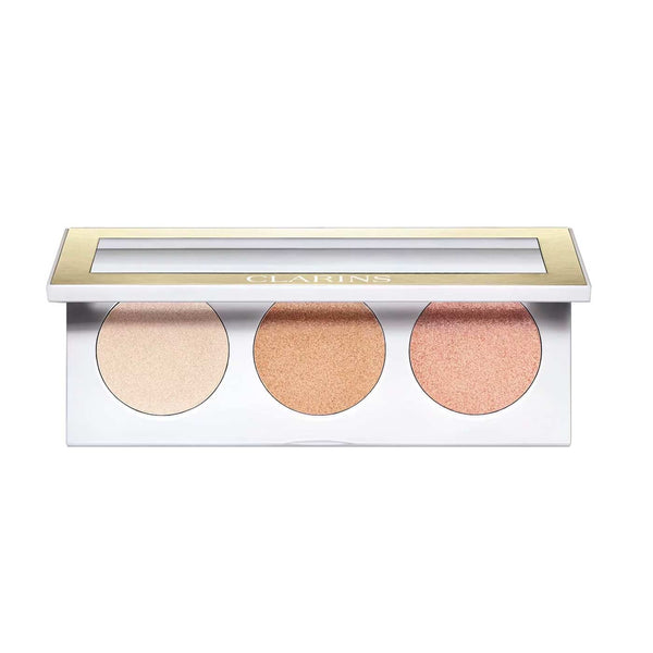 Highlighter Palette for Face and Décolleté - 3 Highlighter Powders
